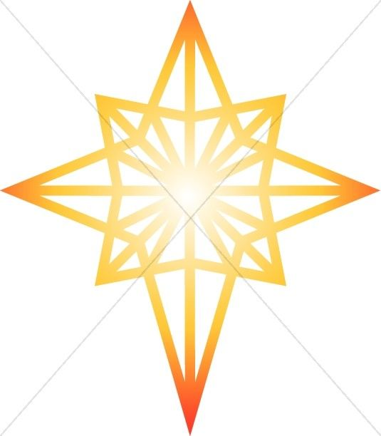 535x612 Glowing Star Of Bethlehem Clipart Epiphany Clipart Products I
