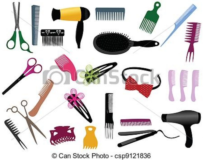 820x645 Hair Clipart Equipment
