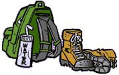 415x261 Hiking Gear Clipart