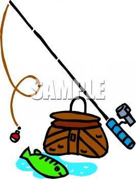 266x350 Royalty Free Clip Art Image Fishing Equipment