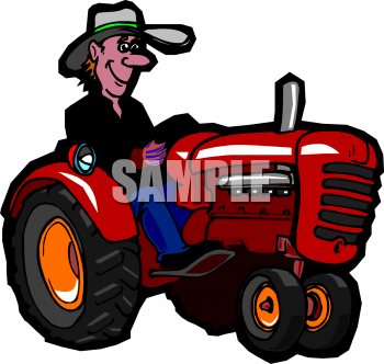 350x332 Royalty Free Tractor Clip Art, Farm Equipment Clipart