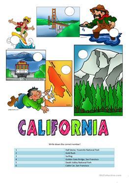 263x371 11 FREE ESL California worksheets