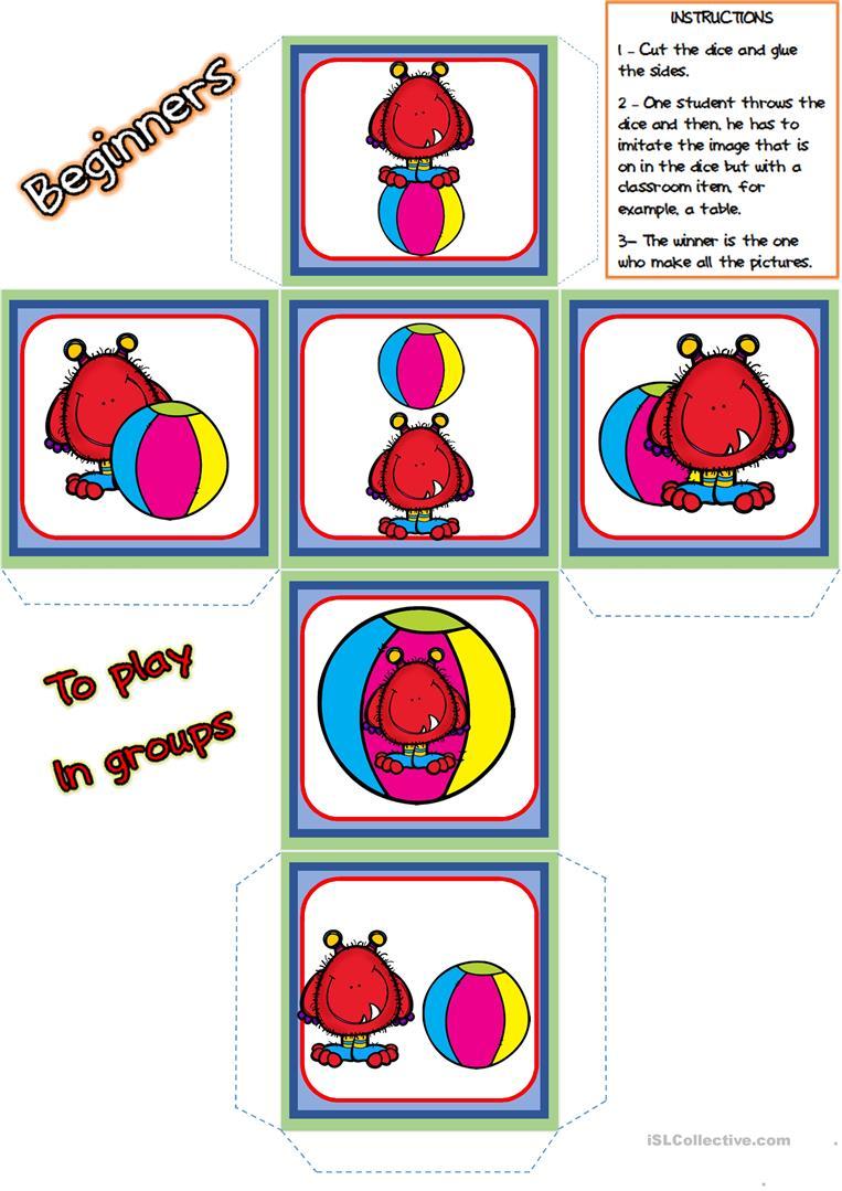 763x1079 59 FREE ESL dice worksheets