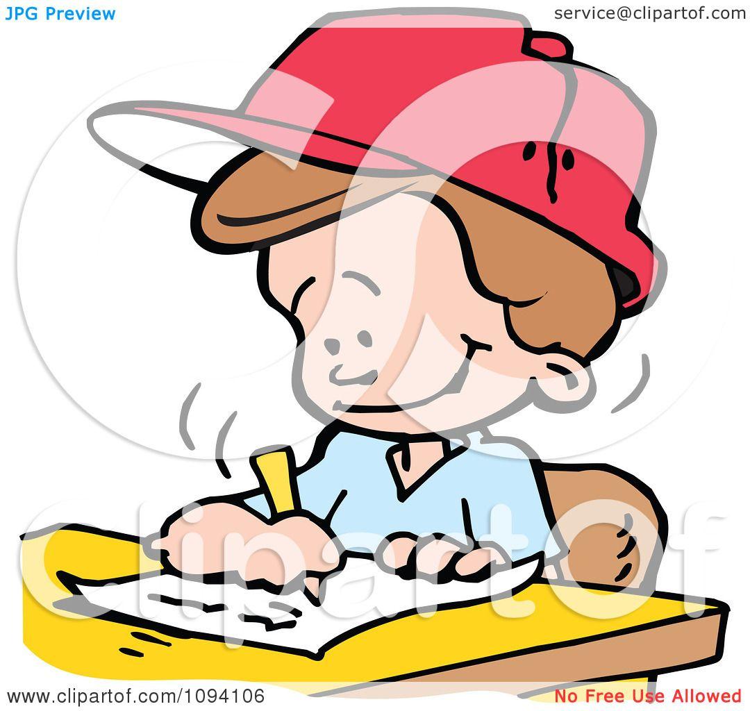1080x1024 Clipart School Boy Writing An Essay