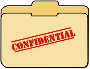 300x230 Confidential Clipart Image