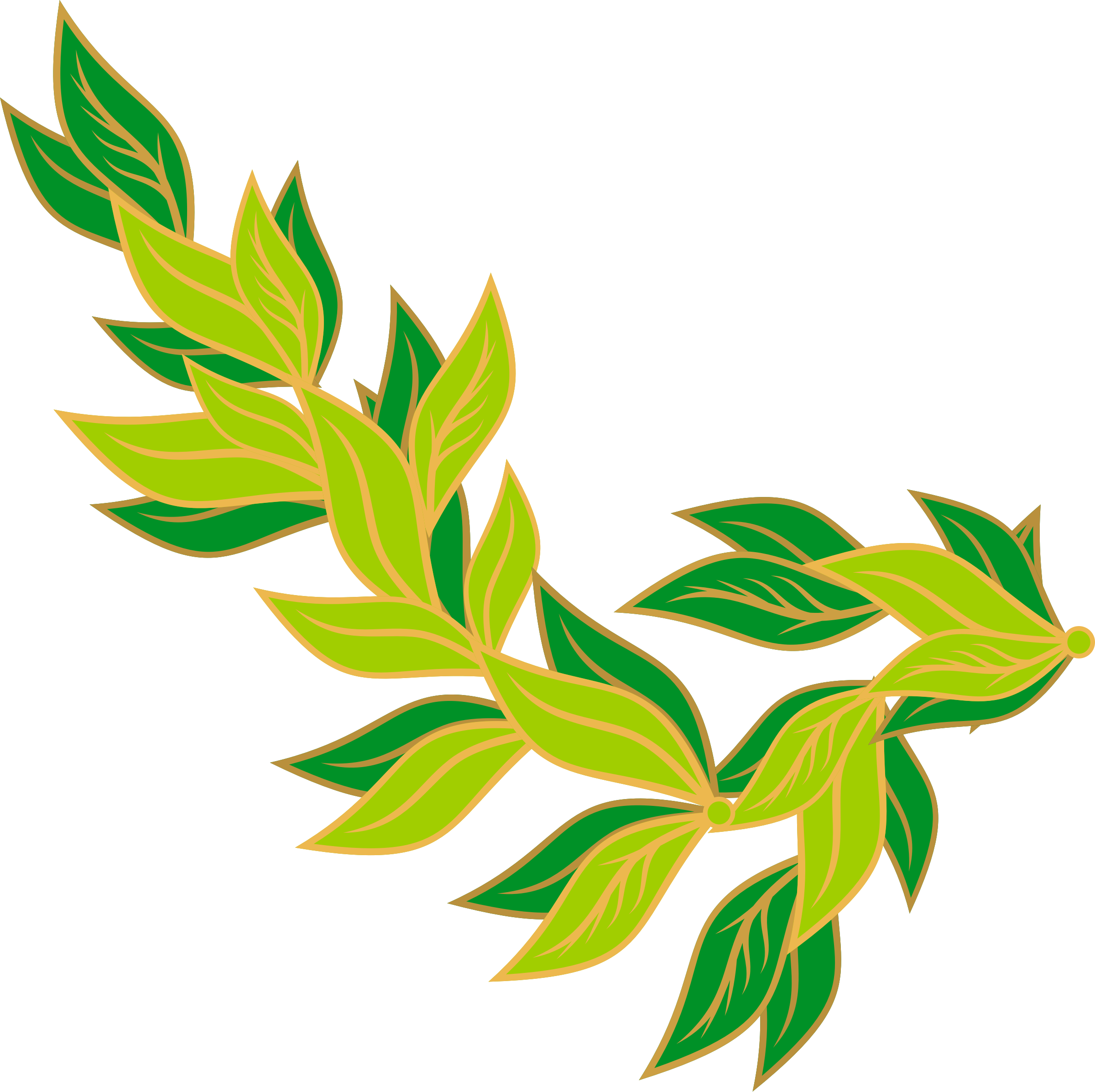2400x2393 Stem Clipart Leaf