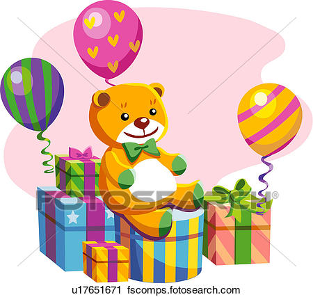 450x427 Clipart Of Teddy Bear, Event, Goods, Thing, Gift U17651671