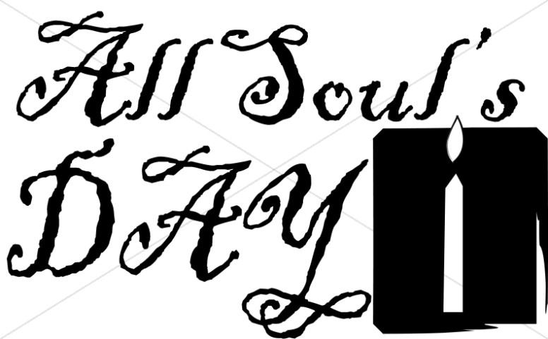 776x481 All Souls Day Candle Event Word Art