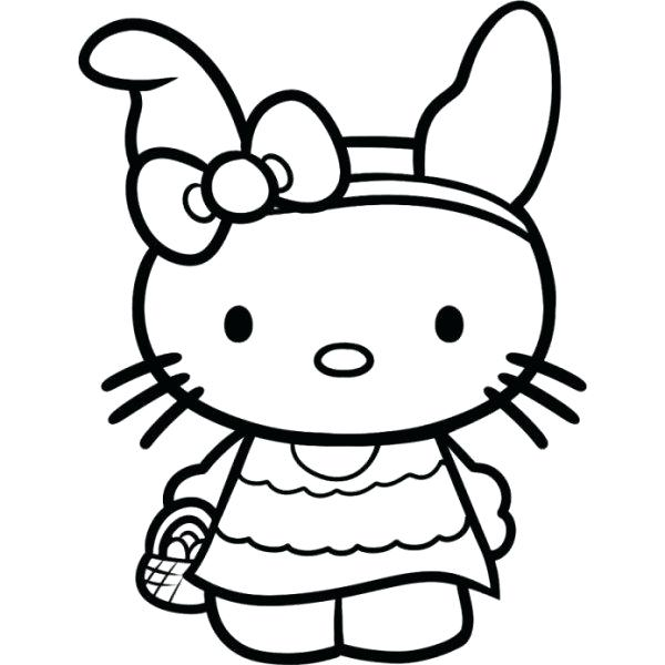 600x600 Hello Kitty Coloring Pages Hello Kitty And Friends Coloring Page