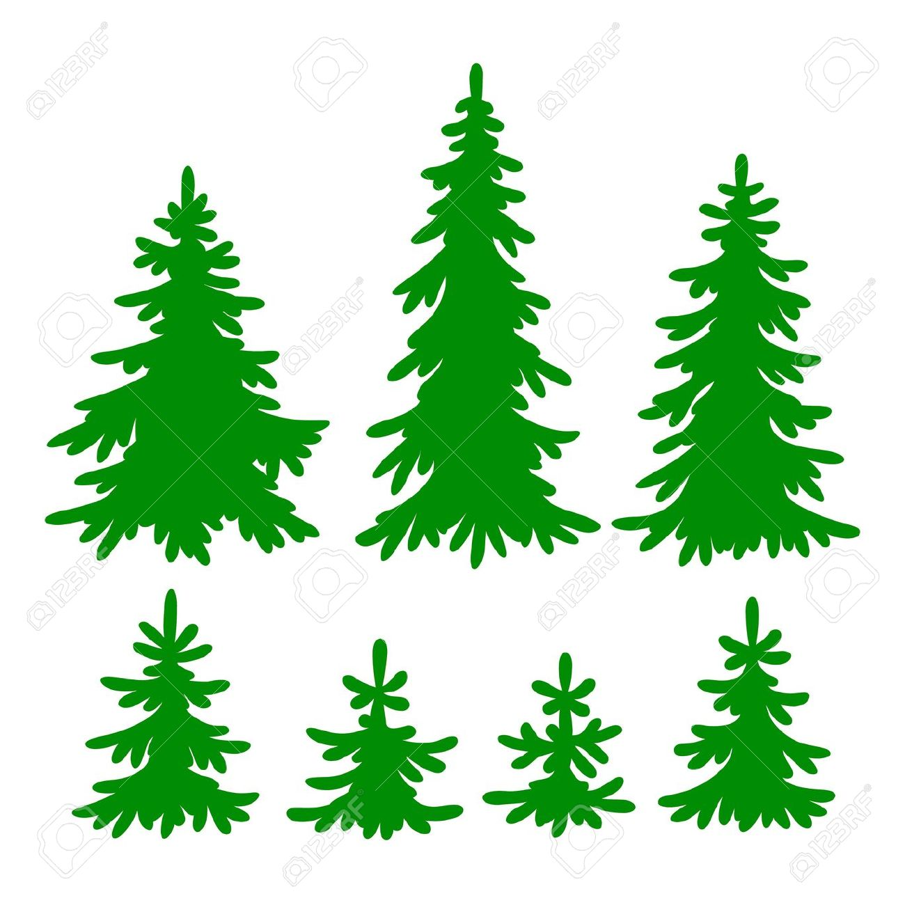 Tall Skinny Christmas Tree Silhouette.Evergreen Tree Clipart Free Download Best Evergreen Tree