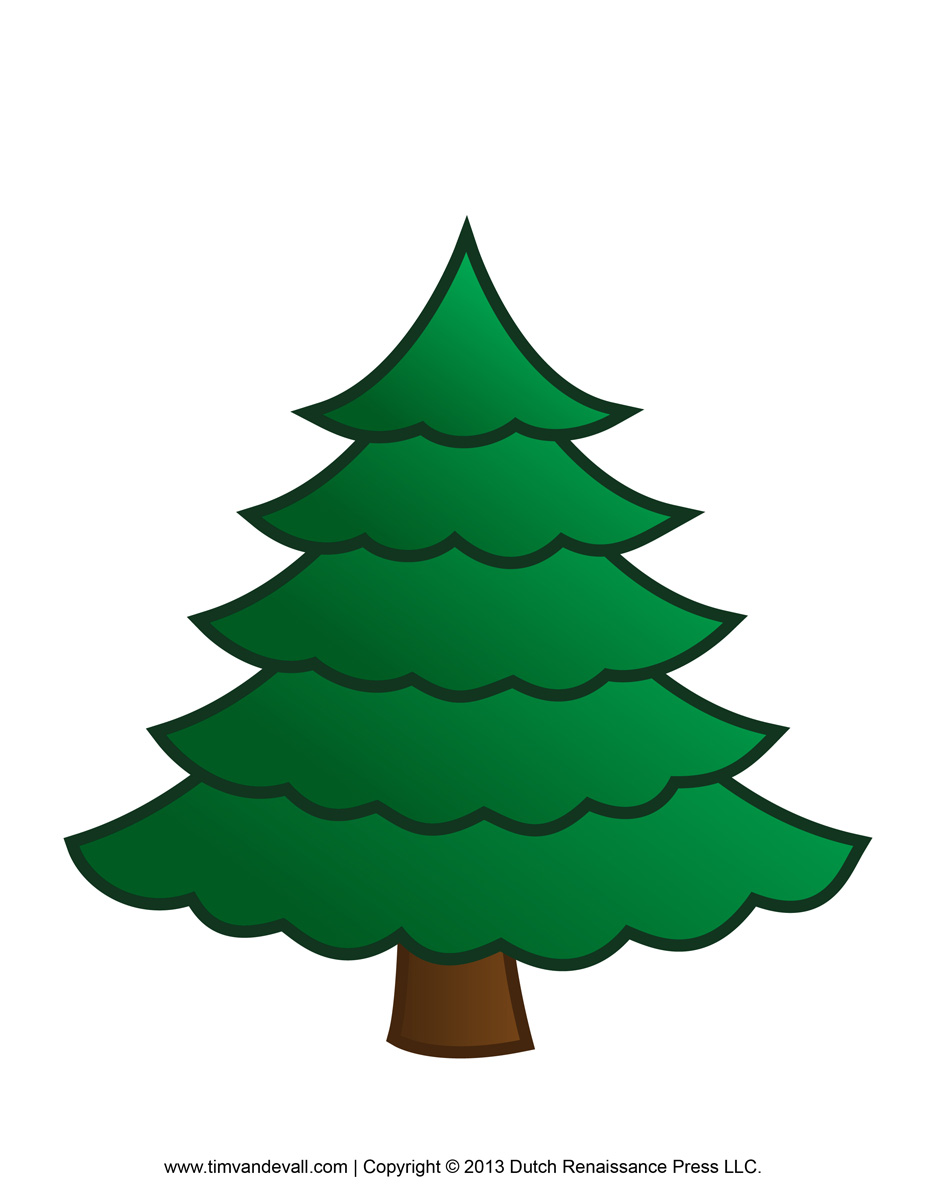 Tall Christmas Tree Clipart.Evergreen Tree Clipart Free Download Best Evergreen Tree