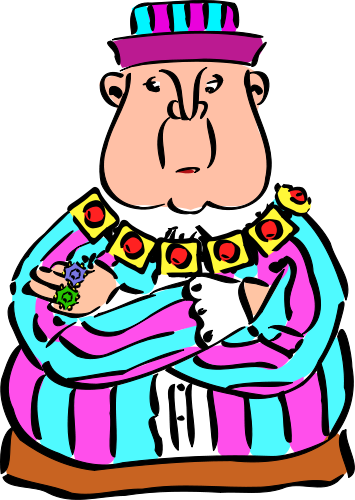 355x500 Evil King On Throne Clipart