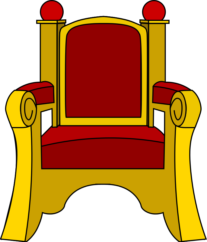 686x800 King On A Throne Clipart