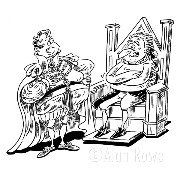 600x600 King On Throne Clipart Black And White