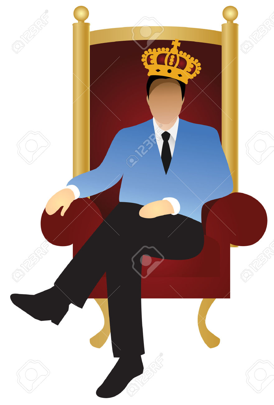 880x1300 King Sitting On Throne Clipart