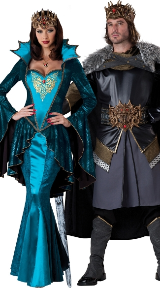 325x585 Deluxe Medieval Rulers Couples Costume, Medieval King Costume