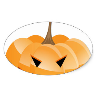 324x324 Evil Pumpkin Stickers Zazzle