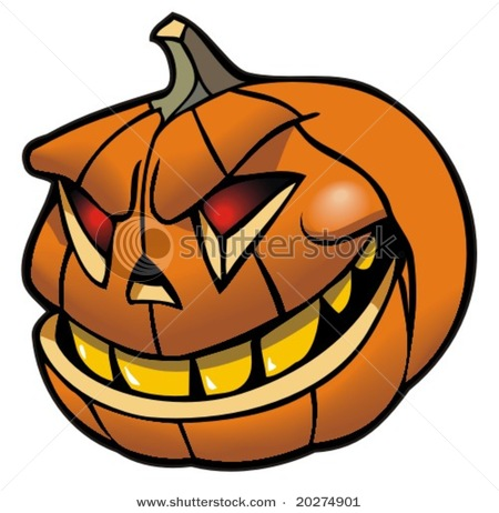 450x462 Jack O Lantern, Halloween Pumpkin, Vector Clip Art Illustration
