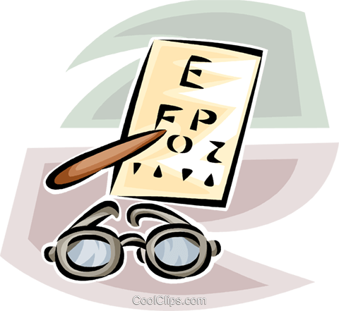 480x441 Eye Glasses And Eye Exam Chart Royalty Free Vector Clip Art