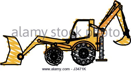 450x247 Excavator Vector Illustration Stock Vector Art Amp Illustration