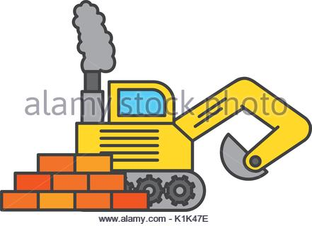 441x320 Excavator Vector Illustration Stock Vector Art Amp Illustration