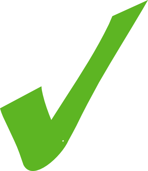 516x594 Green Check Mark Clip Art