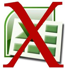 286x297 Microsoft Excel 2007 Logo With Red X Razorleaf