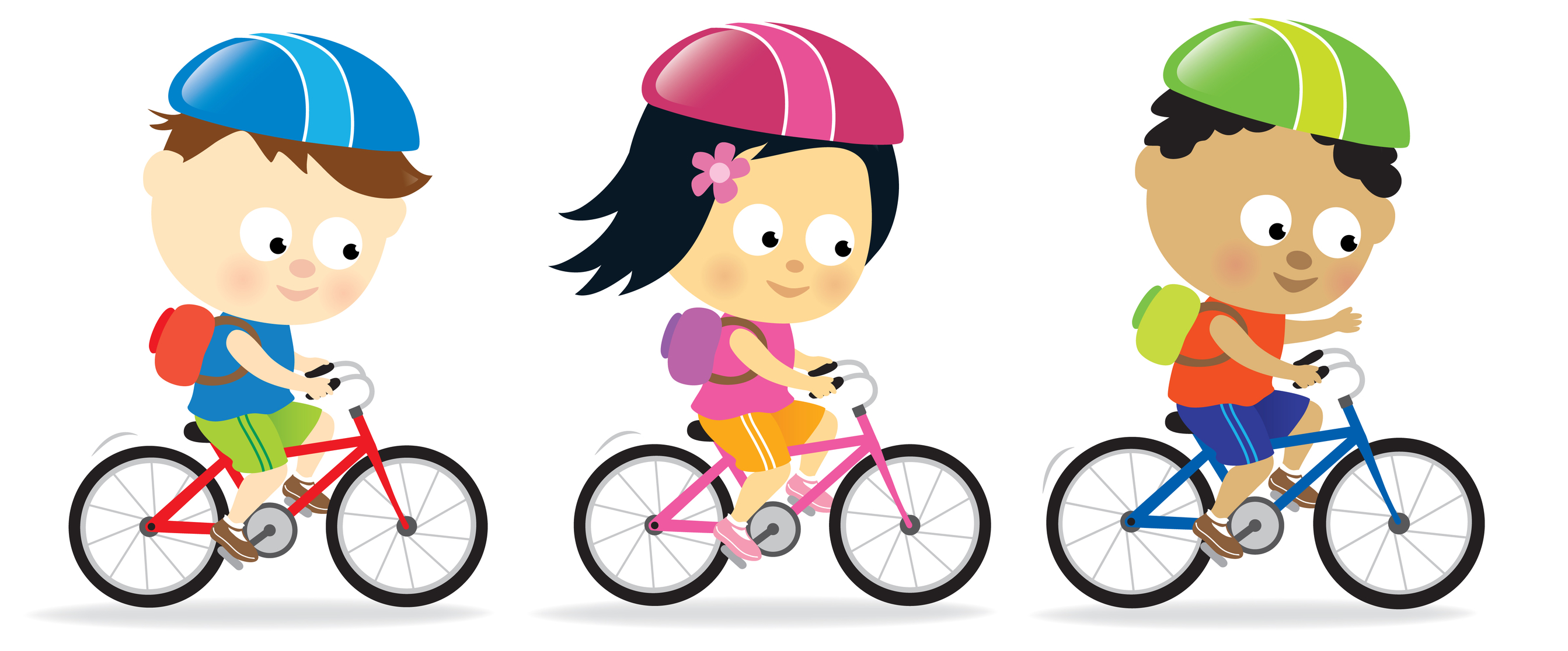 2686x1116 Bicycle Safety Clipart