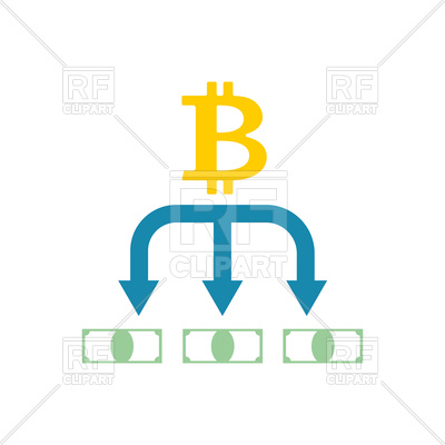 400x400 Bitcoin And Dollar Exchange Icon Royalty Free Vector Clip Art