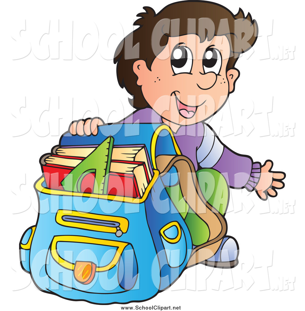 1024x1044 Clip Art Of A Excited Brunette White School Boy Crouching By His