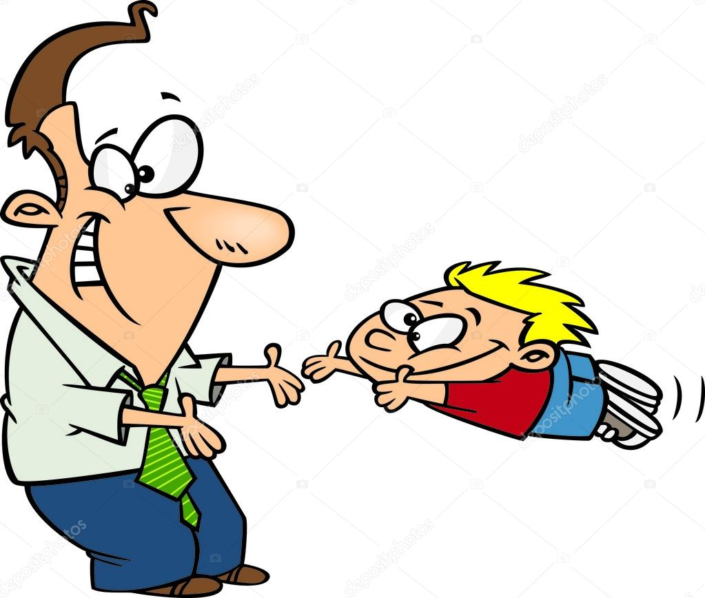 1023x868 Clipart Father Greeting His Excited Son With Open Arms — Stock