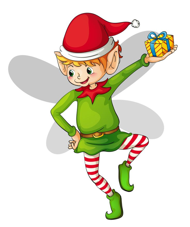 736x876 Elf clipart excited