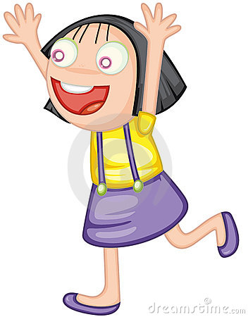 352x450 Excited Girl Clip Art Cliparts