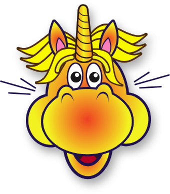 340x388 Excited Unicorn Clip Art