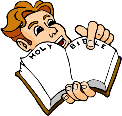 400x380 Image Excited Man Pointing To Page In Bible Bible Clip Art