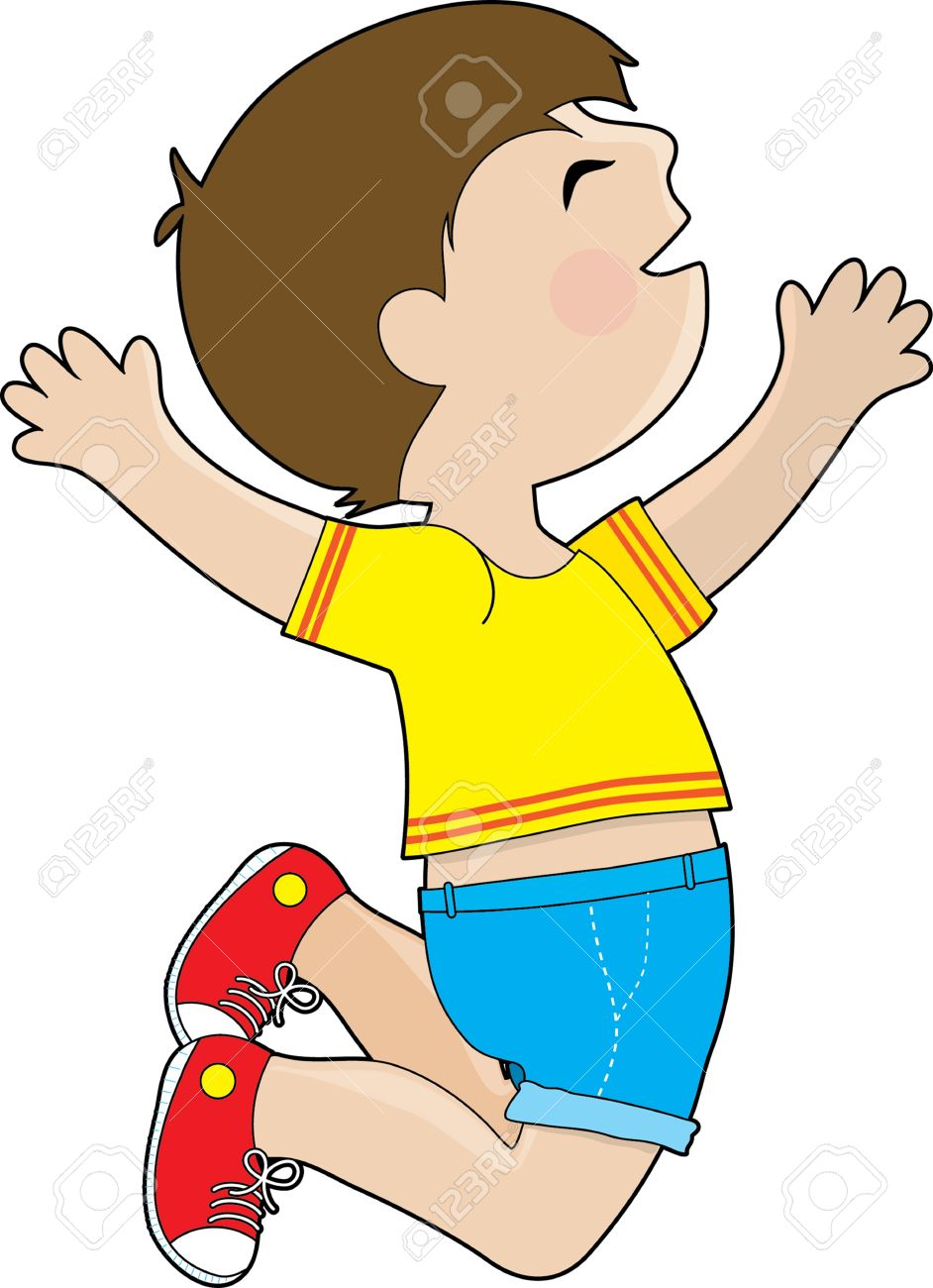 942x1300 Jump clipart excited boy
