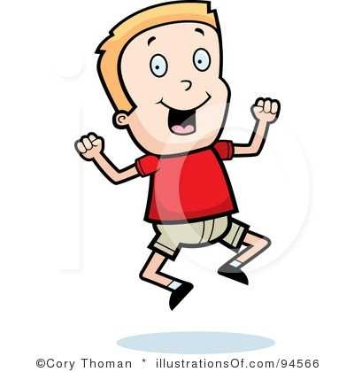 400x420 little boy clipart excited