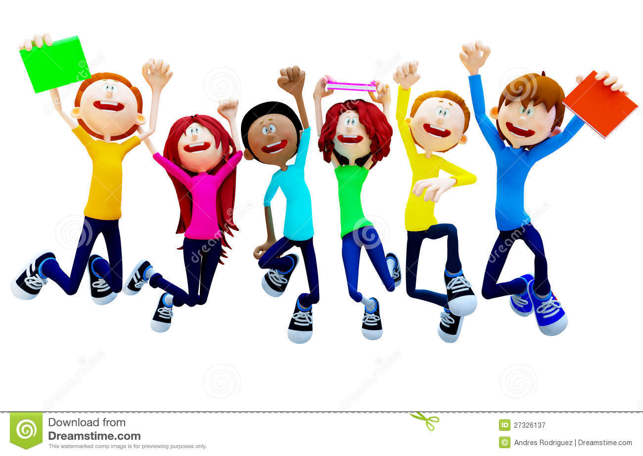 1300x922 Excited Students Clipart