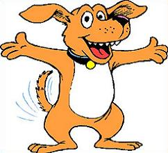 242x220 Excited Dog Clipart