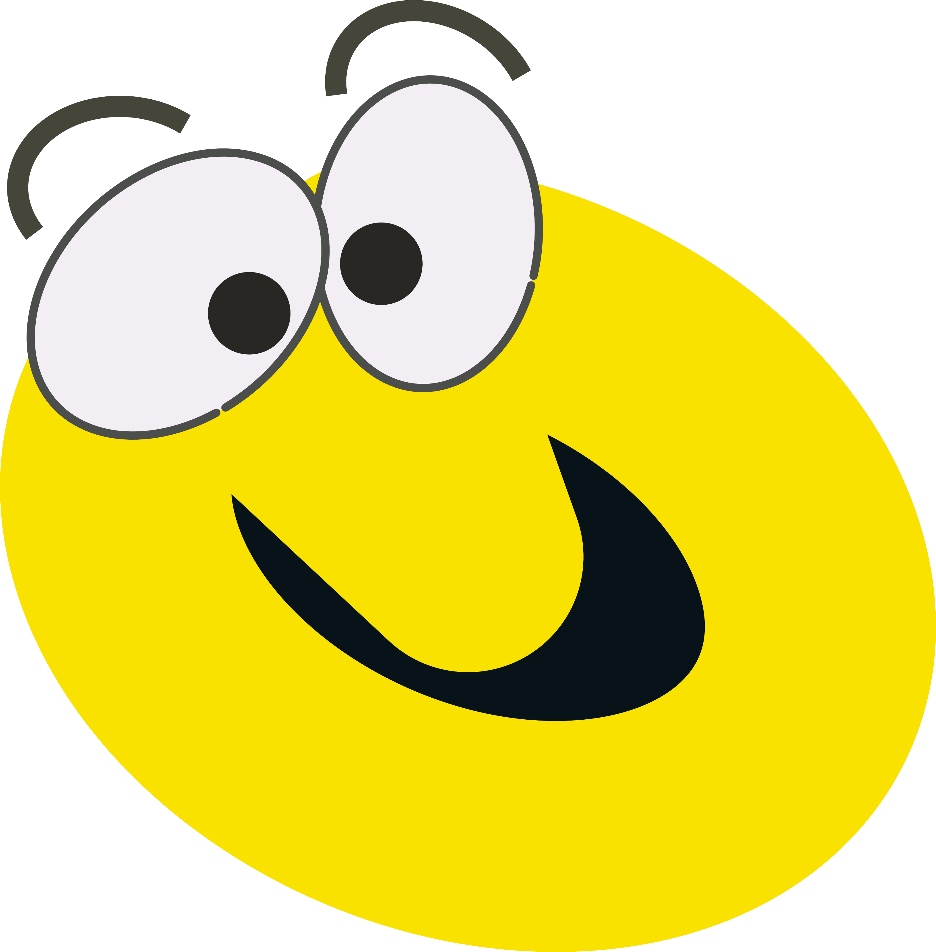 3145x3200 Excited Face Clip Art