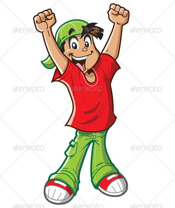 590x700 Happy Cheering Boy Clipart Panda