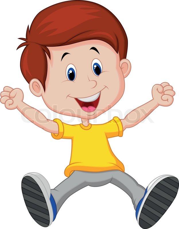 624x800 Vector Illustration Of Happy Boy Cartoon Stock Vector Colourbox