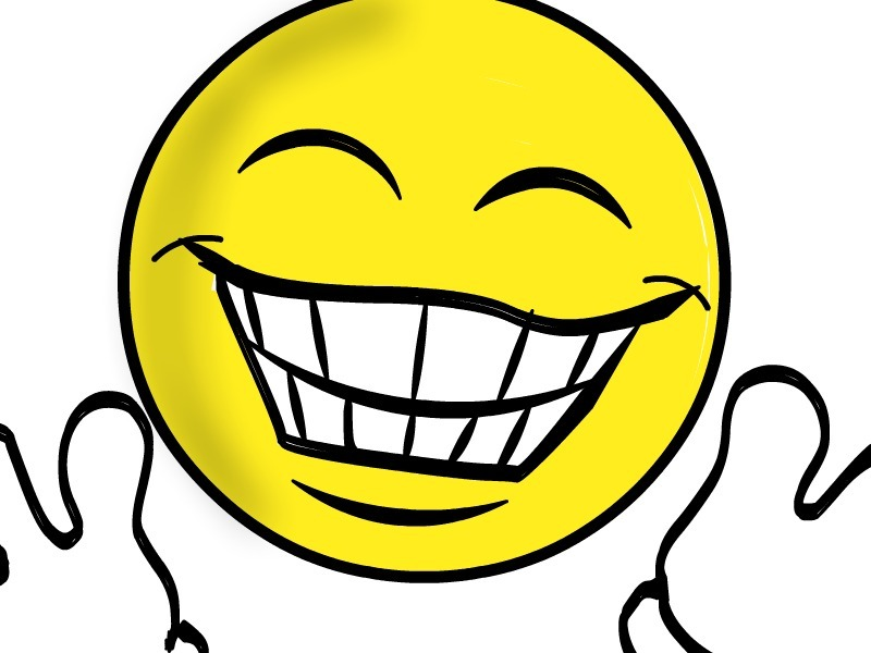 800x600 Very Excited Face Clipart