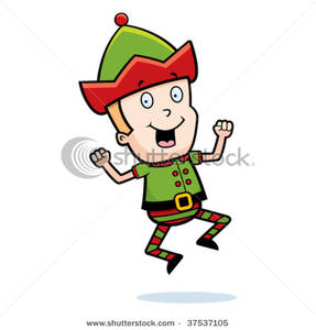 287x300 Elf Clipart Excited