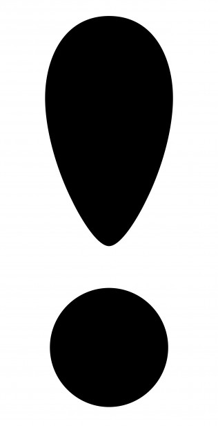316x615 Exclamation Point Clip Art