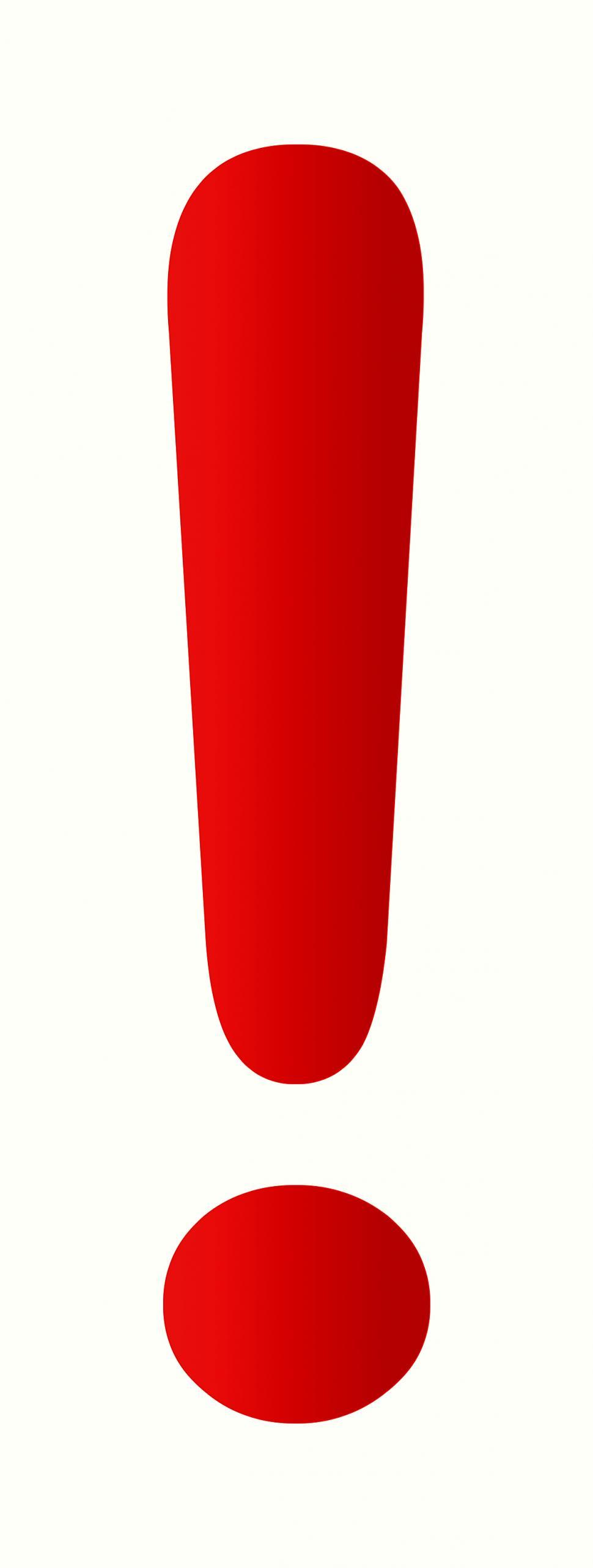 970x2566 Free Stock Photo Of Red Exclamation Mark