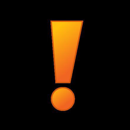 442x442 Orange Clipart Exclamation Mark