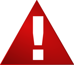 300x261 Red Warning Triangle White Exclamation Mark Clip Art