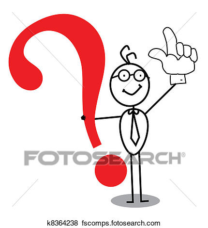 430x470 Clip Art Of Business Attention Question Mark K8364238