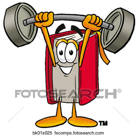 450x448 Clipart Of Book Lifting Weights High Bk01s025